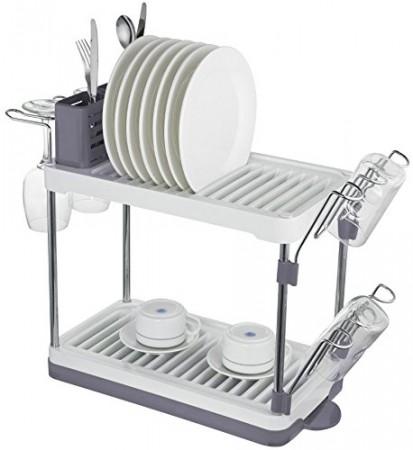sc 1 st  Surpahs & Surpahs 2-Tier Compact Dish Drying Rack (Gray)