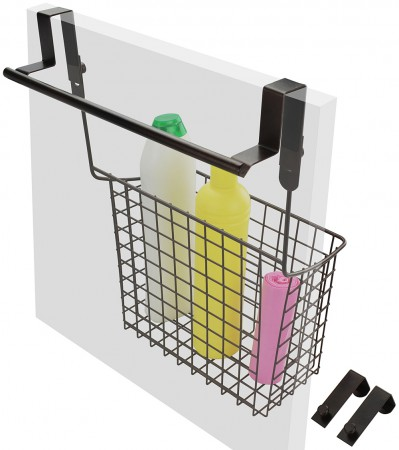 Surpahs Portable 2 In 1 Over Cabinet Basket And Towel Bar